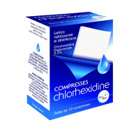 Compresses Chlorhexidine x 10  He.Co Stop