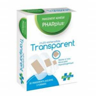 Pansement Adhésif Pharplus Multi-Extansible Transparent x 30 Evoluplus