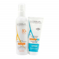 Aderma Protect Spray SPF50+ 200ml + Lait après soleil 100ml OFFERT