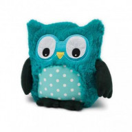 SOFRAMAR Bouillotte peluche Hibou Turquoise