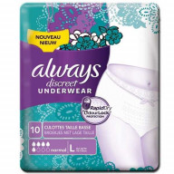 Always Discreet Underwear Normal Taille Basse L 10 Culottes.jpg