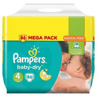 Pampers Baby Dry 86 Couches Taille 4 (8