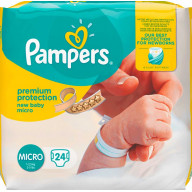 Pampers Premium Protection 24 Couches Taille 0 (1