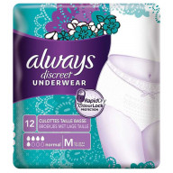 Always Discreet Underwear Normal Taille Basse M 12 Culottes.jpg