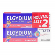 Elgydium Kids Gel dentifrice Protection Caries Fraise Givrée 2x50 ml