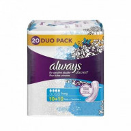 Always Discreet pour Fuites Urinaires Long 20 serviettes