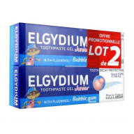 Dentifrice Gel Junior Bubble Gum 7/12 ans Lot de 2 Elgydium