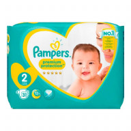 Pampers Premium Protection 24 Couches Taille 2 (3 à 6 kg)