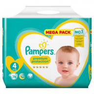 Premium Protection 4 - 78 couches (9-14kg) Pampers