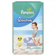 Splashers 4-5 Couches de Bain Jetables x 11 (9-15 kg) Pampers