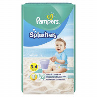 Splashers 3-4 Couches de Bain Jetables x 12 (6-11 kg) Pampers