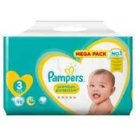 Premium Protection 3 - 98 couches (6-10kg) Pampers