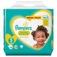Premium Protection 5 - 68 couches (11-16kg) Pampers