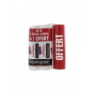 Neutrogena Stick Lèvres Lot de 2 + 1 Offert
