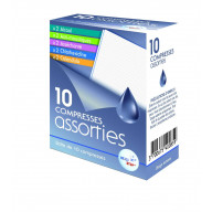 Compresses assorties x10 HE.CO STOP